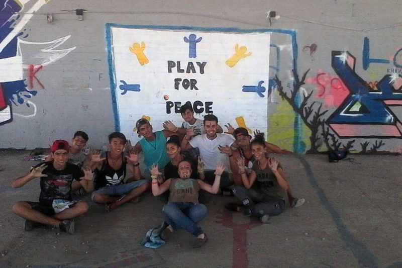 #PFPGlobalUnity: Crete For Life and AMAL Play for Peace Club Come Together